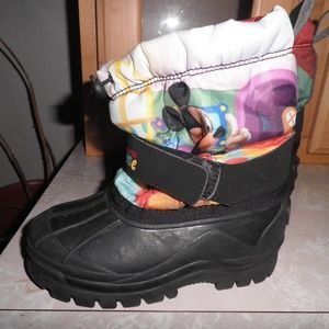 Mickey Mouse CLubhouse Warm Rain Boots Size 10